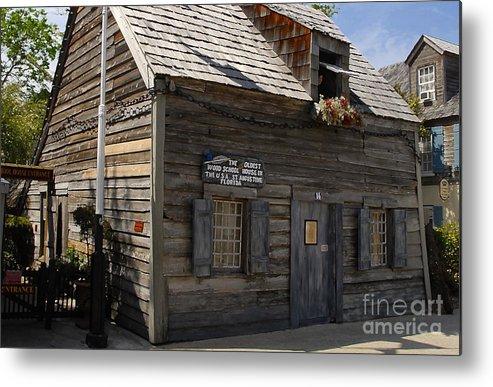 Saint Augustine Florida Metal Print featuring the photograph The Oldest School House by David Lee Thompson