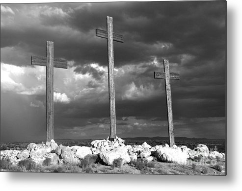 Crosses Metal Print featuring the photograph The Only Way by Kenneth Hess