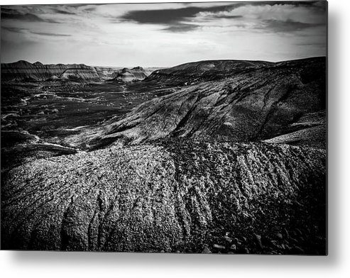 Black And White Metal Print featuring the photograph The Other Moon by Vincent Asbjornsen