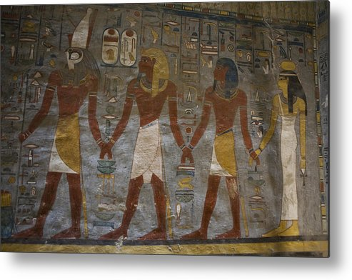 Africa Metal Print featuring the photograph The Painted Walls Inside A Tomb by Taylor S. Kennedy