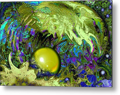 Pearl Metal Print featuring the painting The Pearl by Anne Weirich