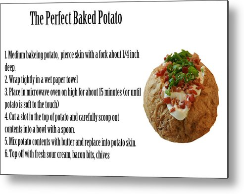 Bacon Metal Print featuring the photograph The Perfect Baked Potato by Michael Ledray