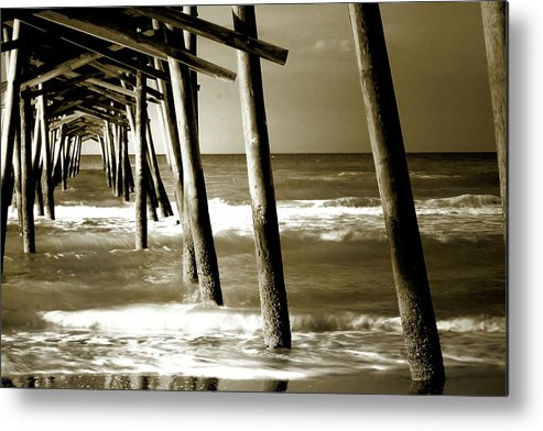 Atlantic Beach North Carolina Metal Print featuring the photograph The Pier 2 by Alan Hausenflock