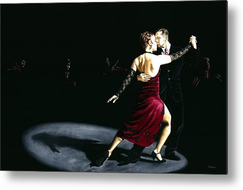 Tango Metal Print featuring the painting The Rhythm Of Tango by Richard Young