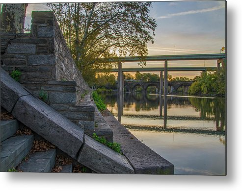 The Metal Print featuring the photograph The Schuylkill Steps - East Falls - Philadelphia by Bill Cannon