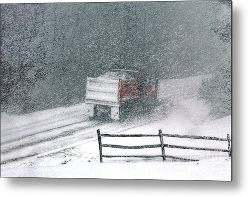 Snowplow Metal Print featuring the photograph The Snowplow by Olivier Le Queinec