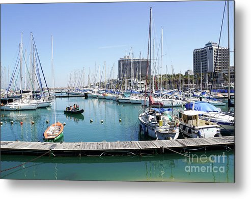 Leisure Metal Print featuring the photograph The Tel Aviv Marina by Vladi Alon
