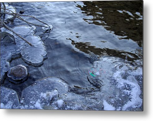 Ice Metal Print featuring the photograph The Thaw Is Coming by Donna Blackhall