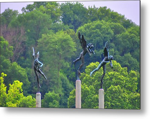 Angels Metal Print featuring the photograph The Three Angels by Bill Cannon