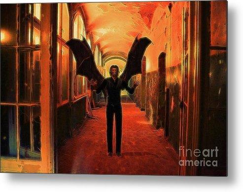 Demon Metal Print featuring the digital art The Vampire Beckons by Raphael Terra