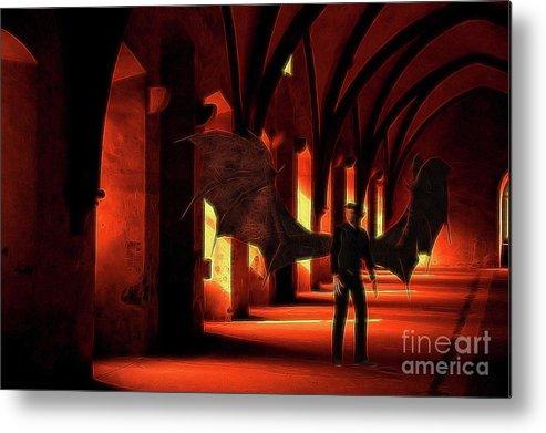 Demon Metal Print featuring the digital art The Vampire Stalks by Raphael Terra