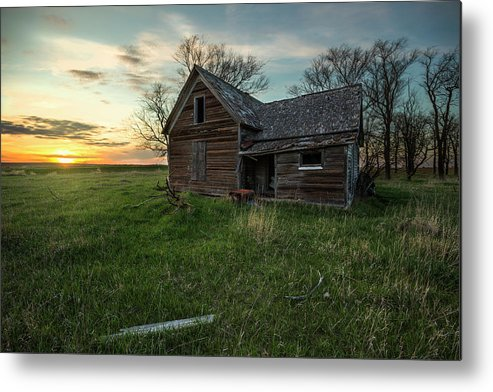 Sky Metal Print featuring the photograph The Way She Goes by Aaron J Groen