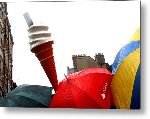 Jez C Self Metal Print featuring the photograph The Wrong Day For Ice Cream by Jez C Self