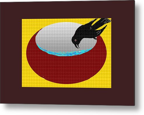 Thirsty Crow Metal Print featuring the digital art Thirsty Crow by Anand Swaroop Manchiraju