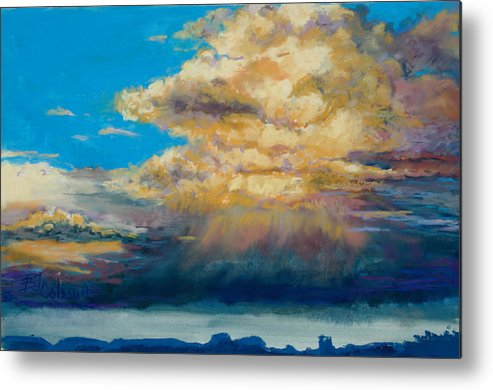 Storm Clouds Metal Print featuring the painting Thundeclouds by Billie Colson