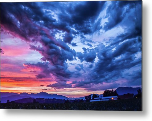 Skies Metal Print featuring the photograph Thunder Storm by David Lee