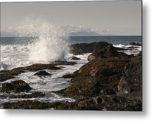 Waves Metal Print featuring the photograph Tide Pool Wave by Chad Davis