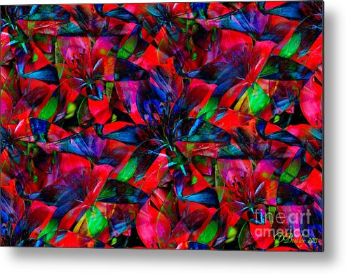 Abstract Art Metal Print featuring the photograph Tiger Lily by Donna Bentley