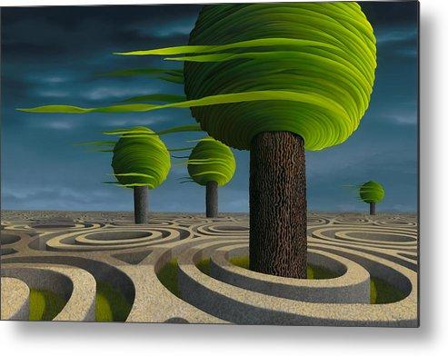 Tree Metal Print featuring the painting Tilia Arbora by Patricia Van Lubeck