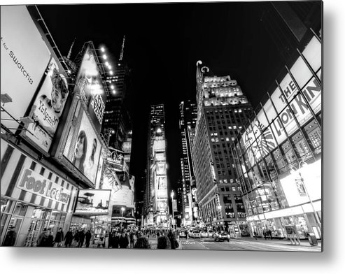Times Square Metal Print featuring the photograph Times Square Don't Shine As Bright As You by Ariane Moshayedi