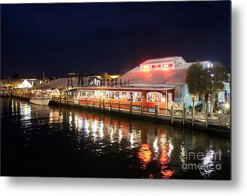 Tin City Naples Florida Metal Print featuring the photograph Tin City At Night -naples Fl by Mesa Teresita