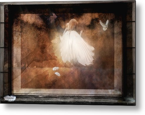 Angel Metal Print featuring the photograph Tiny Angel by Yvonne Emerson