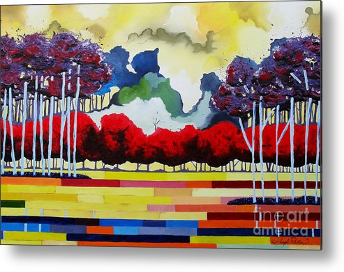 Landscape Metal Print featuring the painting Tomorrows Yesterday by Joseph Palotas