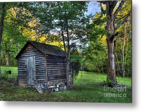 Landscape Metal Print featuring the photograph Toolshed by Pete Hellmann