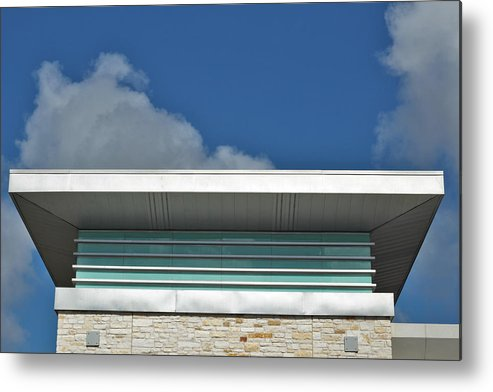 Architecture Metal Print featuring the photograph Top. by Eric Rhodes