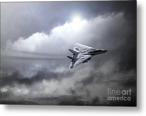 F14 Tomcat Metal Print featuring the digital art Top Gun by J Biggadike