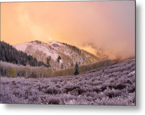 Touch Of Winter Metal Print featuring the photograph Touch Of Winter by Chad Dutson