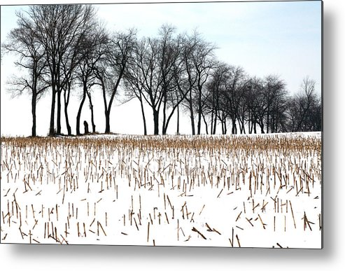 Landscape Metal Print featuring the photograph Touch Of Winter by Chuck Kuhn