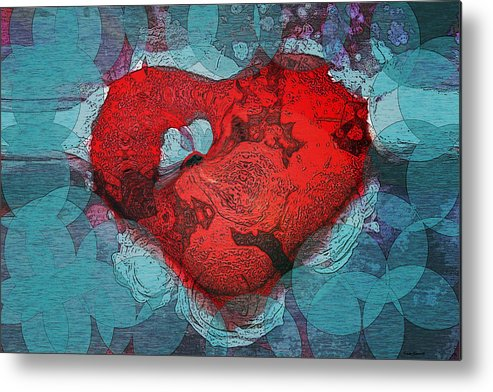 Abstract Art Metal Print featuring the digital art Tough Love by Linda Sannuti