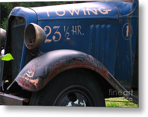 Tow Truck Metal Print featuring the photograph Tow Truck- 4 by Michael Mooney