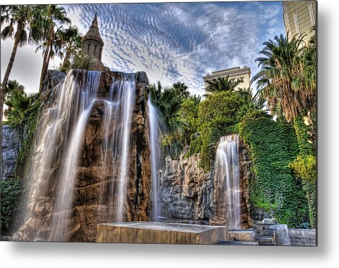 Hdr Metal Print featuring the photograph Tower Of Fountain by Dean Traiger