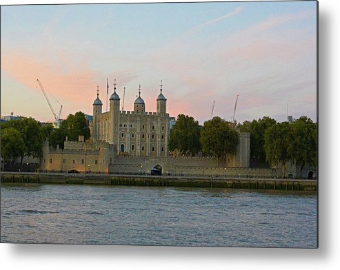 London Metal Print featuring the photograph Tower Of London On The Thames by Two Small Potatoes