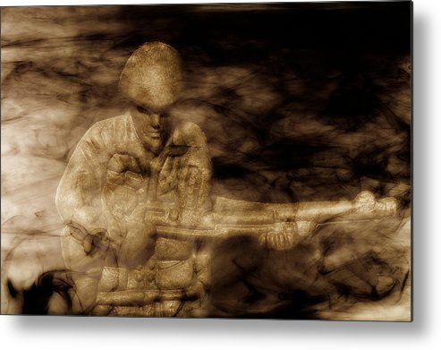 Toy Soldier Metal Print featuring the digital art Toy Soldiers Heat Of Battle by Randy Steele