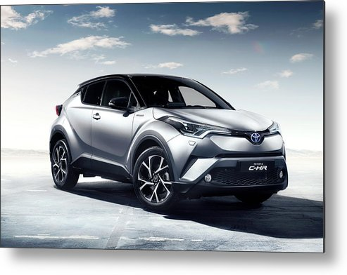 Toyota C-hr Metal Print featuring the digital art Toyota C-hr by Dorothy Binder
