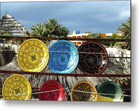 Africa Metal Print featuring the photograph traditional tunis ceramics, Djerba, 07 Nov 2014 by Josef Pliva