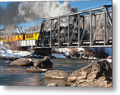 Bingaman Metal Print featuring the photograph Train Crossing by John Bingaman