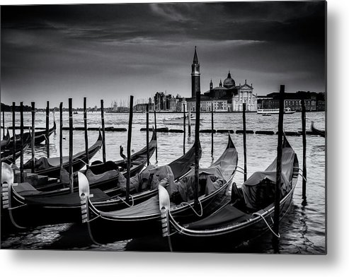 Venice Metal Print featuring the photograph Trio Of Gondolas by Andrew Soundarajan