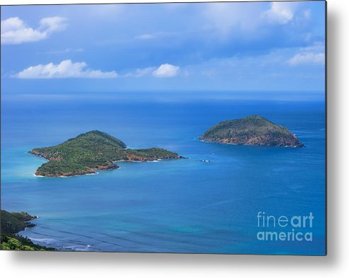 Tropical Islands Metal Print featuring the photograph Tropical Islands In The Caribbean Sea by Olga Hamilton