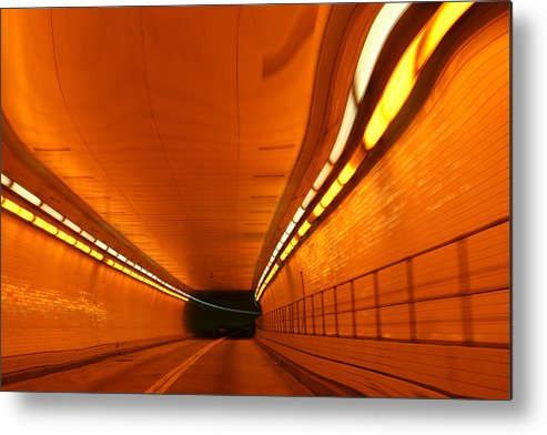 Tunnel Metal Print featuring the photograph Tunnel by Linda Sannuti