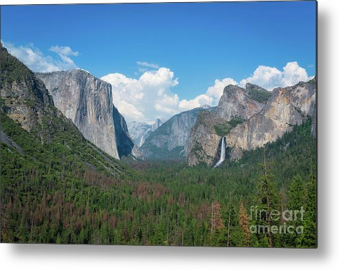 Yosemite Valley Metal Print featuring the photograph Tunnel View by Michael Ver Sprill