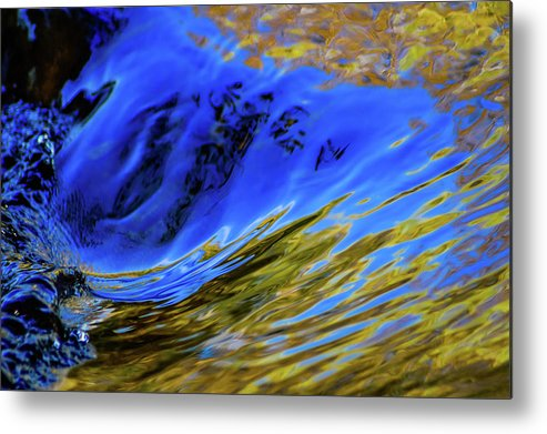 Water Metal Print featuring the photograph Turbulent Fall Reflections by Keith Lander