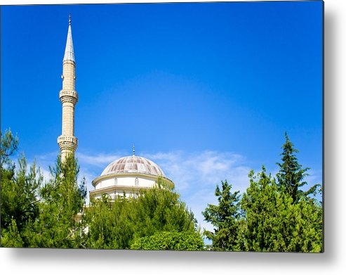 Adhan Metal Print featuring the photograph Turkish Mosque by Tom Gowanlock