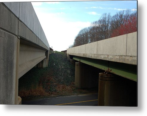 New Jersey Metal Print featuring the photograph Turnpike Perceptions by Heather S Huston