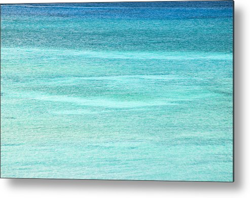 Nobody Metal Print featuring the photograph Turquoise Blue Carribean Water by James Forte