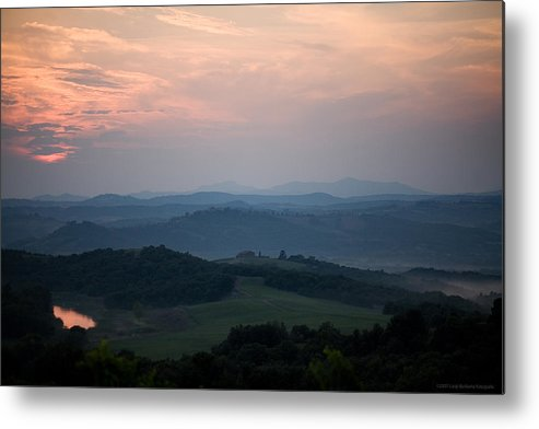 Italy Metal Print featuring the photograph Tuscany Sunset 2 by Luigi Barbano BARBANO LLC