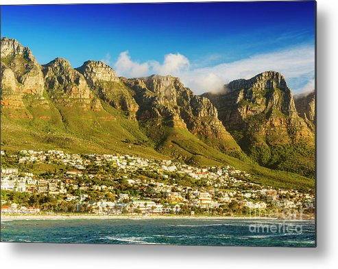 Camps Bay Metal Print featuring the photograph Twelve Apostles In South Africa by Tim Hester